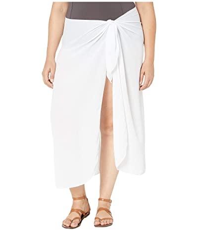DOTTI Plus Size Summer Long Sarong Pareo Cover-Up (White) Women