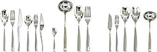 Mepra 105022113P Flatware Set, [113 Piece, Polished Silver Finish, Dishwasher Safe Cutlery