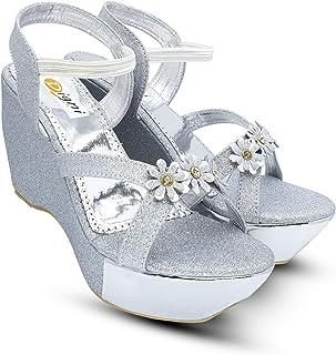 Digni Sandals Ankle Strap Buckle Wedge Sandal Open Toe Studded Platform Sandals