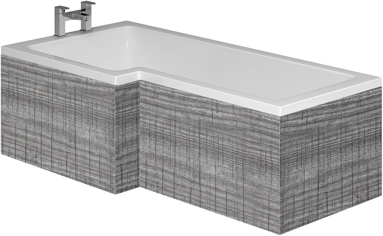 Newton Grey Ash L-Shaped Bath Panel Front 1700mm