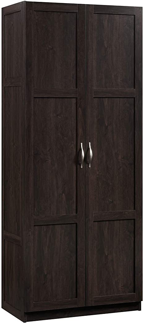 Amazon Com Sauder 419496 Miscellaneous Storage Storage Cabinet L 29 61 X W 16 02 X H 71 50 Cinnamon Cherry Finish Furniture Decor