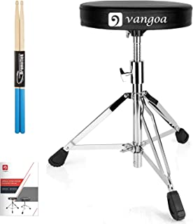 $55 » Vangoa Drum Throne, Padded Drum Stool Seat Portable Adjustable Folding Double Braced Drumming Stools for Adults and Kids, ...