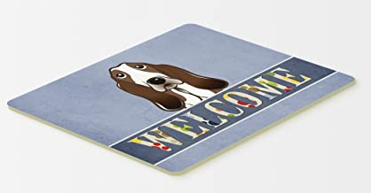 Caroline's Treasures BB1429CMT Basset Hound Welcome Kitchen or Bath Mat, 20 by 30, Multicolor