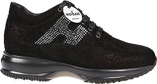 Luxury Fashion | Hogan Women HXW00N02010LJWB999 Black Leather Sneakers | Autumn-winter 19