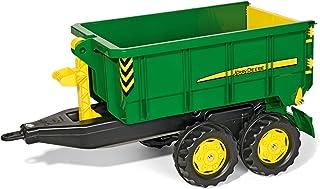 Rolly Toys rollyContainer John Deere Hakenabroll-Kipper mit Absetzmulde, Zweiachsanhänger, für Kinder von 3-10 Jahren 125098