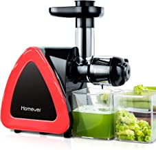 Juicer Machines, HOMEVER Slow Masticating Juicer for Fruits and Vegetables, Quiet Motor,..