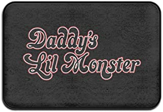VGETEN MAT Harley Quinn Daddy's Lil Monster Non-Slip Entrance Indoor/Outdoor/Front Door/Bathroom Mats 60x40x1CM