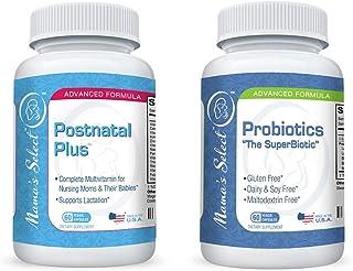 Mama's Select Probiotics and Postnatal Vitamins Bundle for Breastfeeding and Postpartum Care