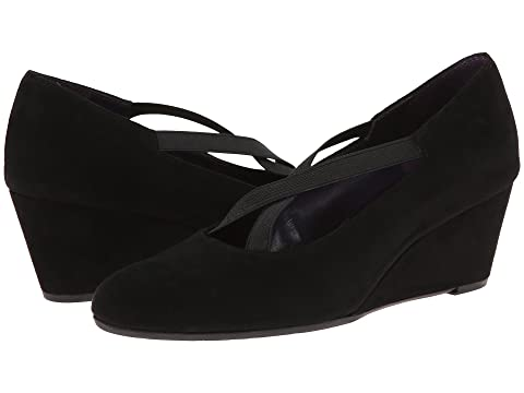 Womens Shoes Vaneli Trypsy Black Suede/Elastic