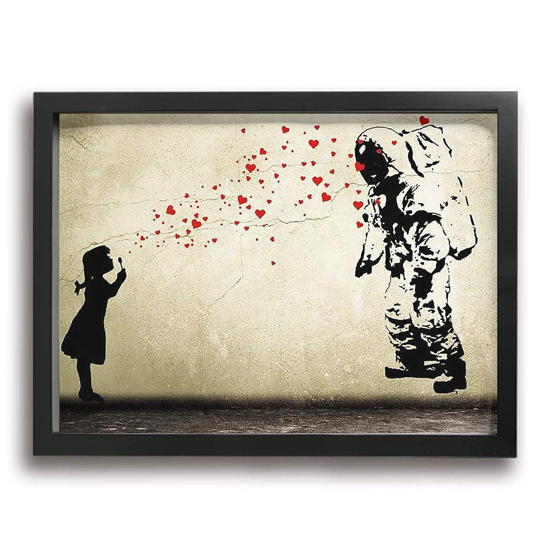 Steven Robert バンクシー キャンバス アートボード アートフレーム インテリア絵画 おしゃれ モダン フレーム 部屋飾り 絵画 壁掛け アートストリート バンクシー ポスター