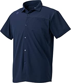 Descente Men's UV Protection Quick Dry Button-Down Collar Shirt with UPF 15