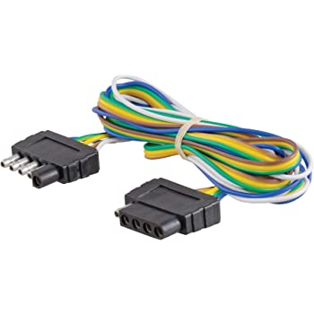 [SCHEMATICS_4CA]  Amazon.com: CURT 58550 Vehicle-Side and Trailer-Side 5-Pin Flat Wiring  Harness with 72-Inch Wires: Automotive | Wesbar 5 Flat Wiring Diagram |  | Amazon.com