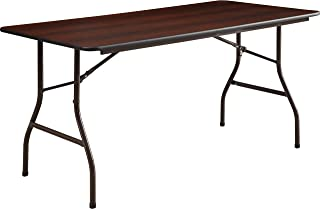 Lorell 65755 Folding Table, 60-Inch x30-Inch x29-Inch, Mahogany