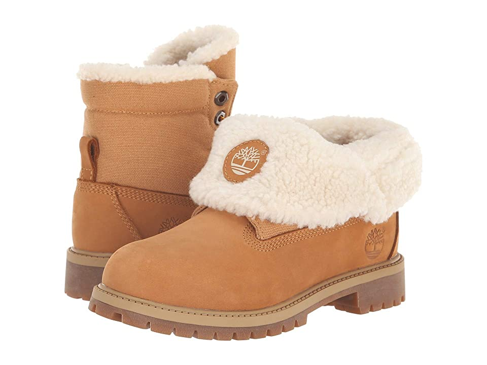 Timberland Kids Timberland(r) Icon Collection Roll-Top (Big Kid) (Wheat Nubuck) Kids Shoes