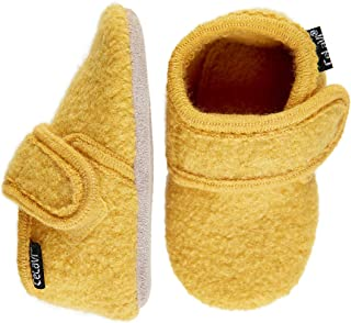 Eco Kids Wool-Soft Leather Sole Unisex Boy Girl Slippers Booties First Shoes - 7 Colors- Baby-Toddler (US 5.5 (12-18 Months; 5