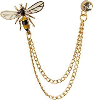 Honey Bee with Hanging Chain Brooch Lapel Pin