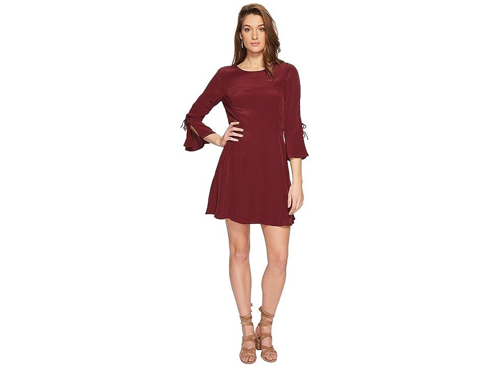 Lucky Brand Bell Sleeve Dress (Tawny Port) Women