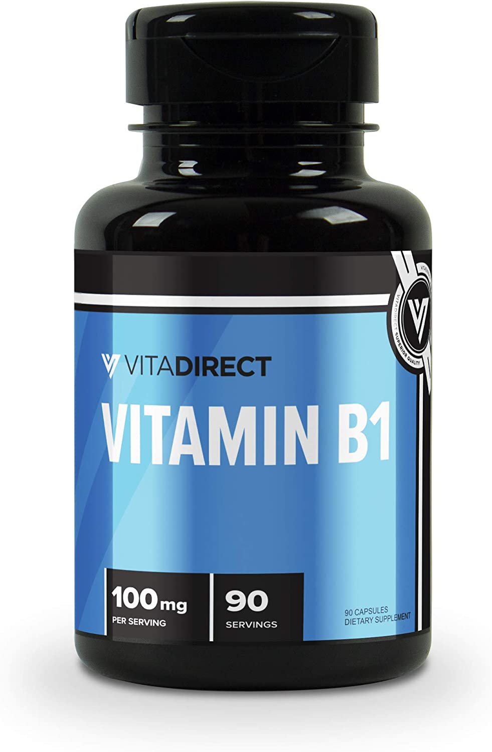 Easy-to-use VitaDirect Premium Vitamin B1 100mg 90 - sold out Capsules Th