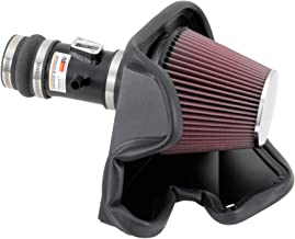 K&N Cold Air Intake Kit with Washable Air Filter: 2013-2017 Nissan/Infiniti (Altima, Pathfinder, QX60, JX35), 3.5L V6, Black Metal Finish with Red Oiled Filter, 69-7063TTK