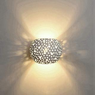Applique Murale LED 5W Platre Lampe Design Moderne Vers le haut et vers le bas Luminaires Muraux Intérieur Boule Ronde For...