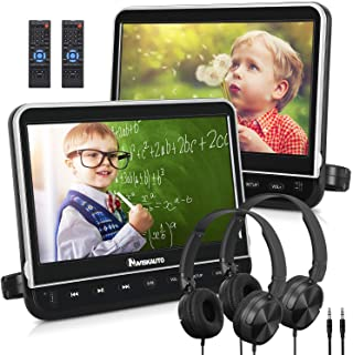 "NAVISKAUTO 10.1"" Dual Car DVD Players with 2 Headphones Mounting Bracket Support 1080P Video HDMI Input Sync Screen Region..."
