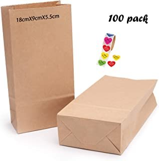 a ray of sunshine Bolsas Papel Kraft,Bolsas Kraft Mediana,Bolsa Biodegradable Regalos,Bolsas de Papel Regalo,Pequeñas Bolsas de Regalo,para Invitados o para Guardar Comida(100pcs) (18 * 9 * 5.5)