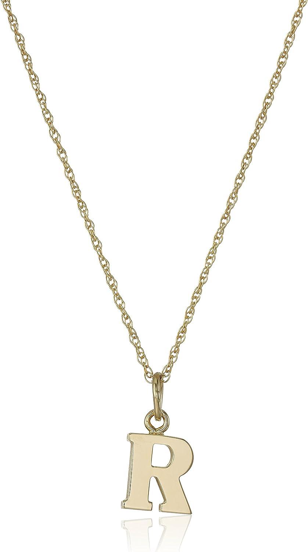14k Gold-Filled Letter Charm Pendant Necklace