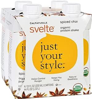 Svelte Protein Shake Organic Spiced Chai 11 Fl Oz Case Of 24, 11 Ounce