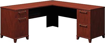Bush Business Furniture Enterprise Collection 72W x 72D L Shaped Desk in Harvest Cherry