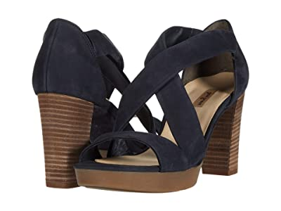 Paul Green Aura Heel (Blue Soft Nubuck) Women