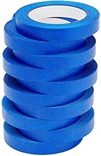LICHAMP 10 Pack Blue Painters Tape 3/4 inch, Blue Masking Tape Bulk Multi Pack, 0.75 inch x 55 Yards x 10 Rolls (550 Total...