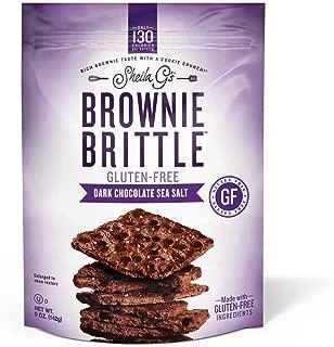 SHEILA GS Dark Chocolate Sea Salt Brownie Brittle, 5 OZ