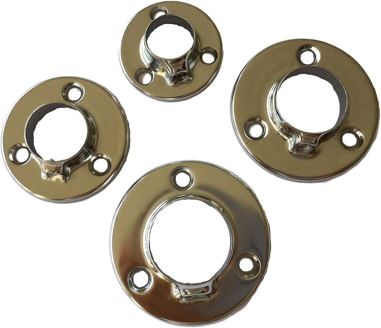 2x Kleiderstange Flansch Sockel Halterung Halter für Rohr 32mm//1,26Zoll Durchm