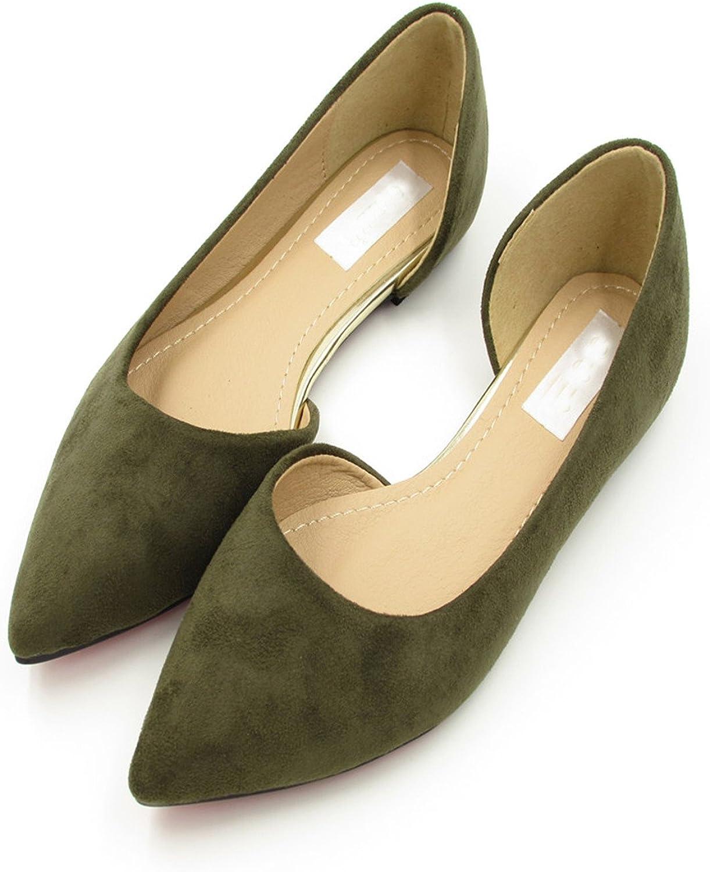 Dahanyi Stylish Fashion Green Black red gra Women's shoes Comfortable Flat shoes Flats Flats shoes Large Size Women shoes