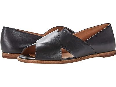 Madewell Ava Peep-Toe in Leather (True Black) Women