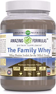 Amazing Formulas The Family Whey Whey Protein (Isolate) Powder for The Whole Family 2 lbs Most Complete & Purest Form of P...