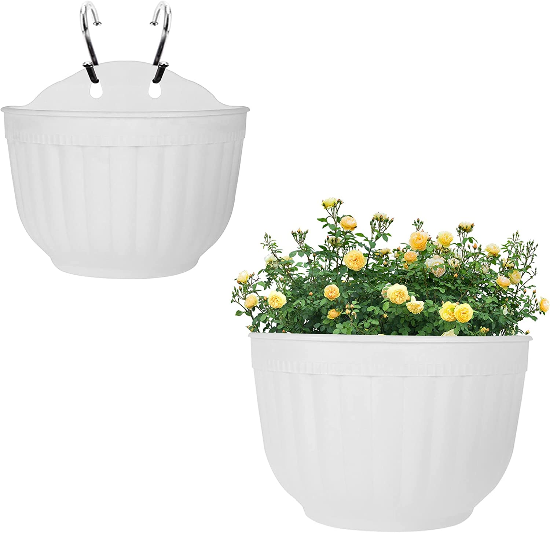 elfinrm 2 Pcs Resin Wall Hanging Planter 8.1 2021 spring and summer new Inch Omaha Mall Plants Basket
