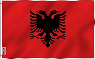 ANLEY Fly Breeze 3x5 Foot Albania Flag - Vivid Color and UV Fade Resistant - Canvas Header and Double Stitched - Albanian ...