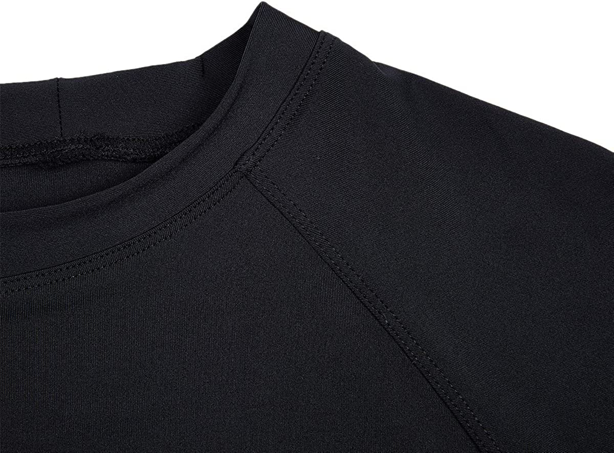 Men's Solid Rashguard UPF 50+ Swim Shirt Mens Sprint UPF50+ Sun Protective Rash Guard Active Shirt