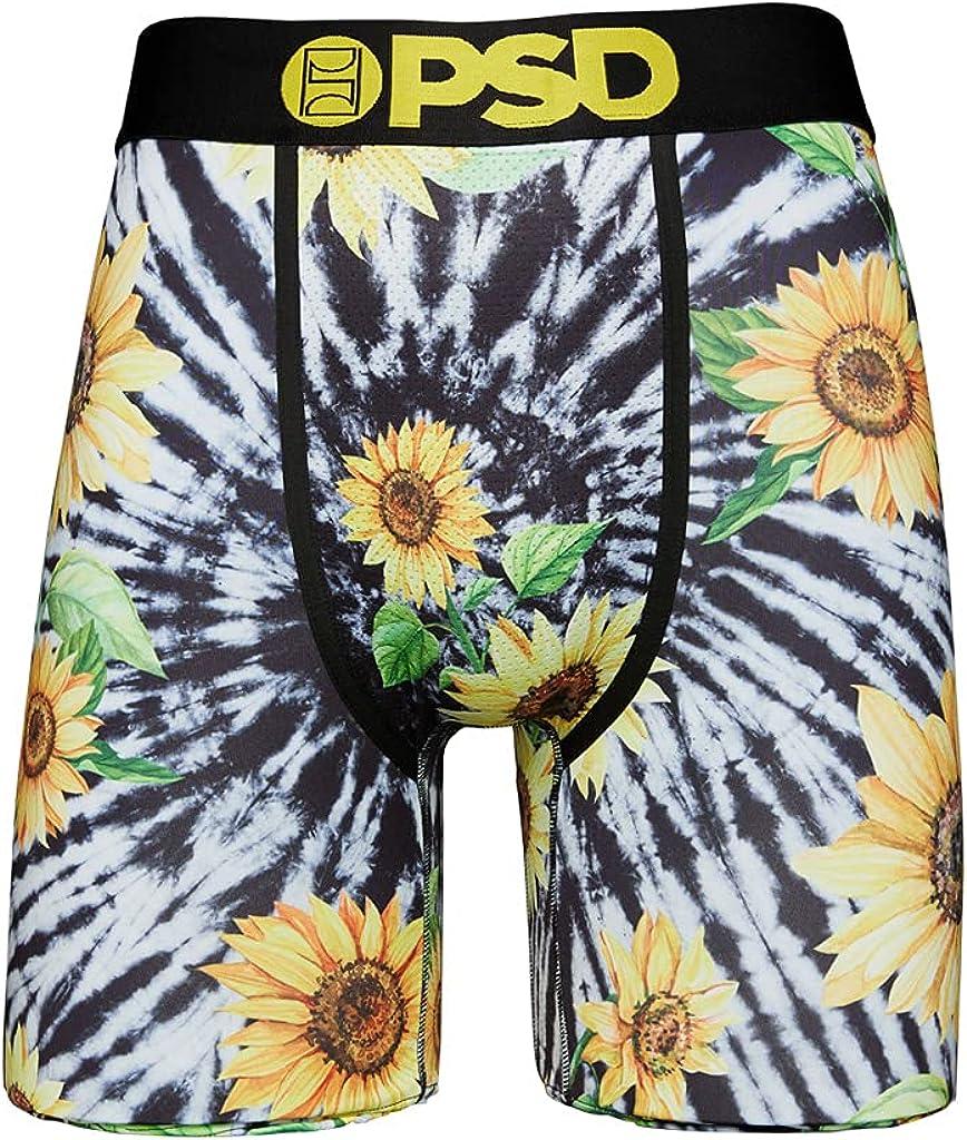 PSD Men's Brief (Black/Td Sunflower, M)