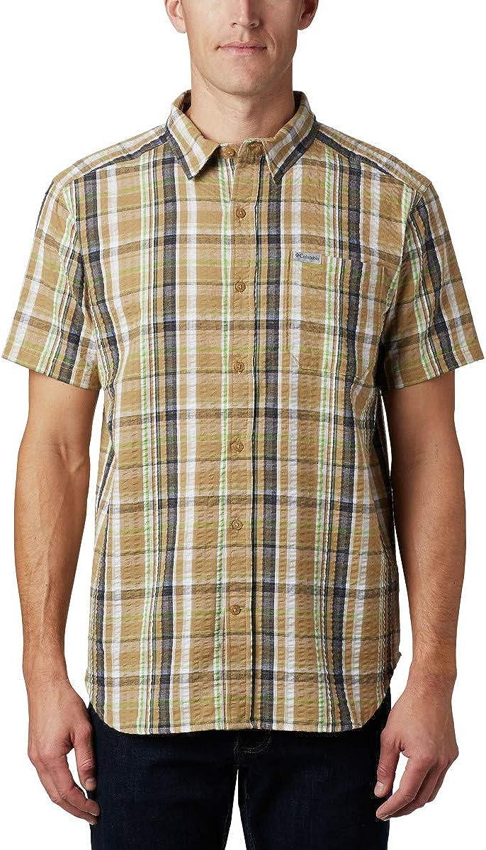 Columbia Men's Brentyn Sale Special Price Trail Shirt Short Sleeve Seersucker free