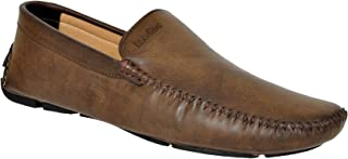 Lee Fox Genuine LeatherBrown Colored Loafer for Men's (LF_554_Brown_Loafer)