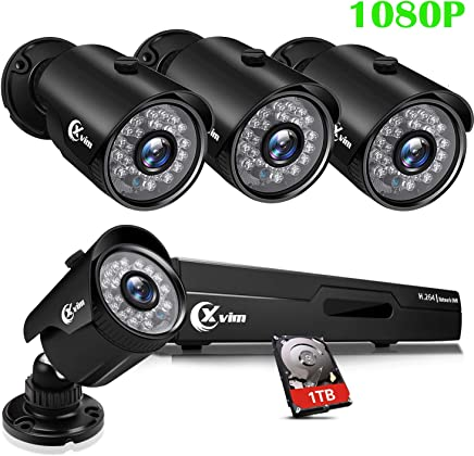 XVIM 8CH 1080P Security Camera System Home Outdoor 1TB...