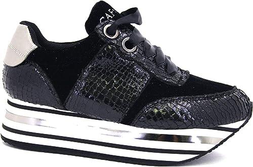 Turnzapatos Cafè negro DC905 zapatos mujer Stampa vipera e macrosuola a Righe 39