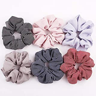 COODIO 6pcs/set Lady Fashion Stripe Polka Dot Plaid Hair Decoration Set for Fashion Jewelry