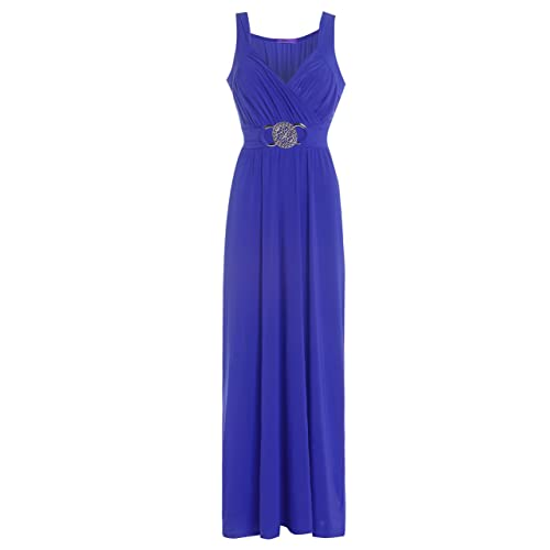 e05c98a040 Fashion Valley Formal Bridesmaid Gown Ball Party Cocktail Evening Prom Long  Buckle Maxi Dress UK XL