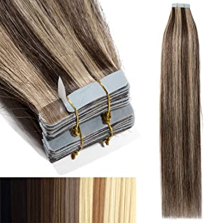 Tape In Virgin Human Hair Extensions 100% Remy Human Hair 20 pieces x 4 cm wide Human Hair 22