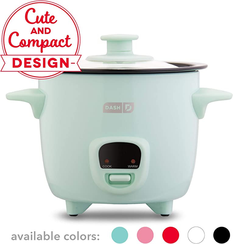 Dash DRCM200GBAQ04 Mini Rice Cooker Steamer With With Removable Nonstick Pot Keep Warm Function Recipe Guide Aqua