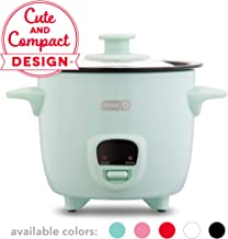Dash DRCM200GBAQ04 Mini Rice Cooker Steamer with with Removable Nonstick Pot, Keep Warm Function & Recipe Guide, Aqua