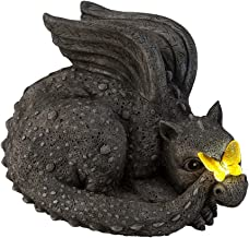 Wind & Weather Solar Baby Dragon with Butterfly 8.25 L x 6.75 W x 5.5 H